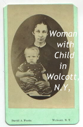 Woman & Child in Wolcott NY photograph