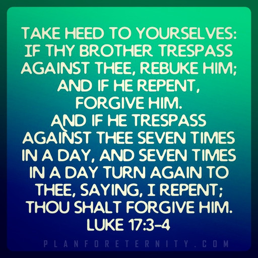 Forgiveness comes with repentance