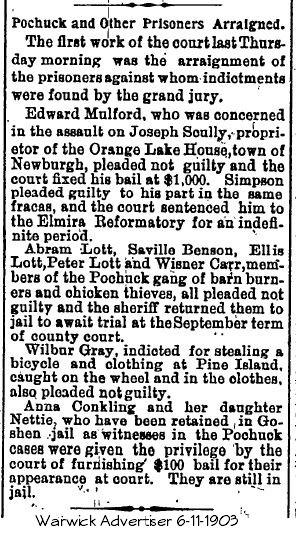 Pochuck Gang arraigned 1903