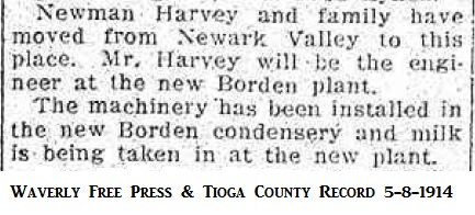 Newman Harvey, engineer at the new Borden plant