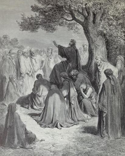 Jesus Preaching to the Multitude