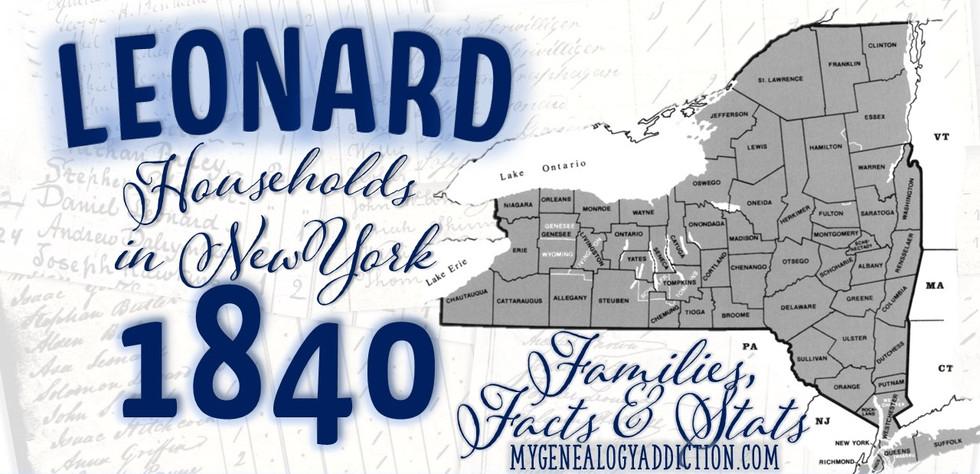Leonards on the 1840 Census NY