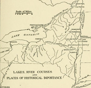 Map Of New York Rivers.Old New York Lakes Rivers And Places