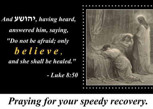 Do not fear, just believe