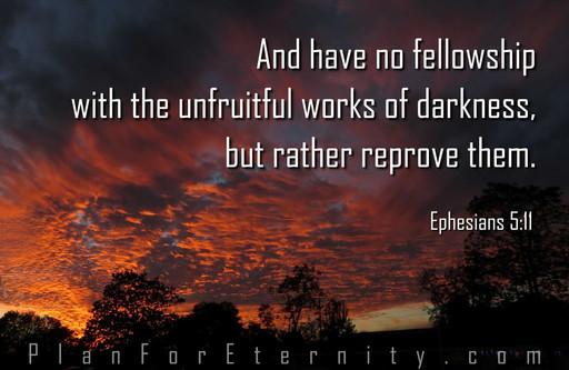 Rebuke darkness