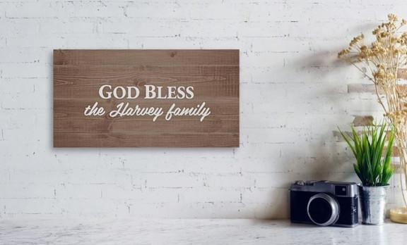 God Bless the Harvey Family