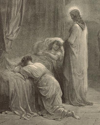 Jesus brought to Jairus' daughter