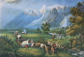 ROCKY MOUNTAINS - IMMIGRANTS CROSSING THE PLAINS