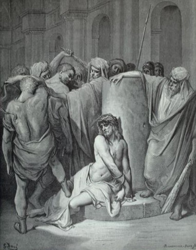 Jesus beaten by order of Pilate