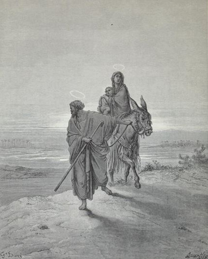 Joseph and Mary flee to Egypt