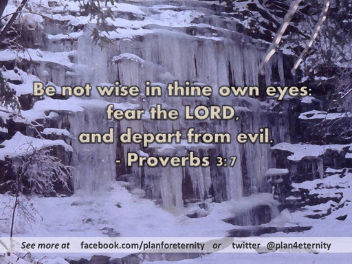 Fear God and depart from evil