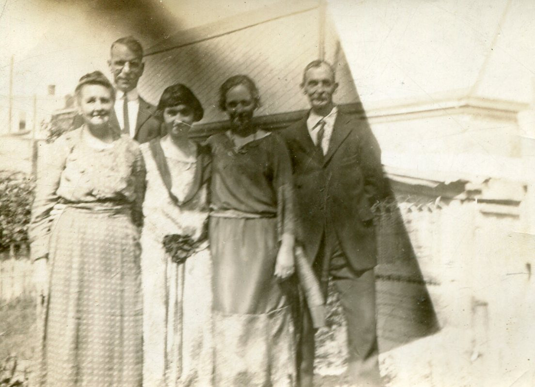 Mary Ann (Dickinson) Proctor Lewis with relatives