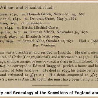 William Knowlton & Elizabeth Balch