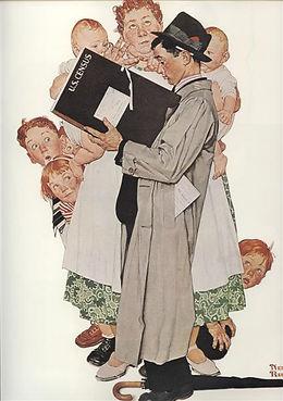 Norman Rockwell - Census Taker art print