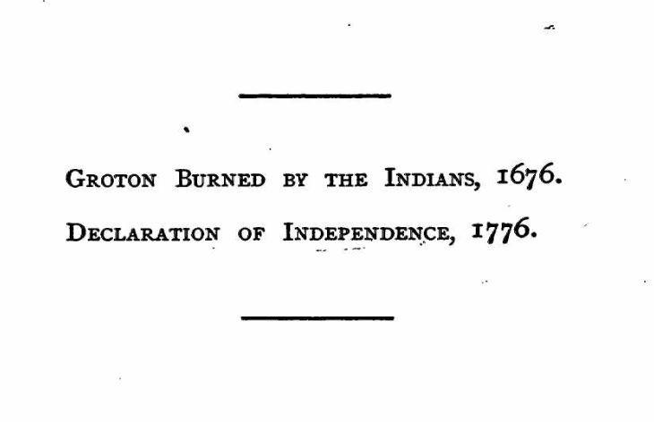 An historical address, bi-centennial and centennial, Groton, Massachusetts