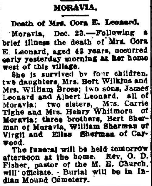 Cora (Sherman) Leonard obituary