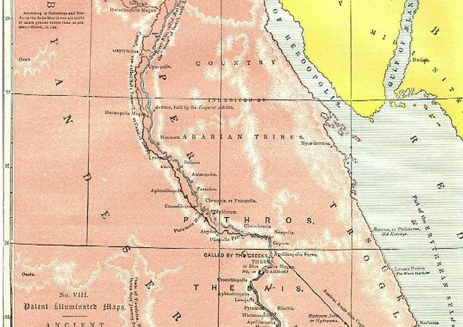 Map VIII - ANCIENT EGYPT, THE LAND OF MIZRAIM