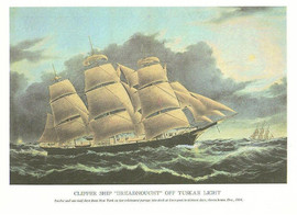 CLIPPER SHIP DREADNOUGHT TUSKAR LIGHT