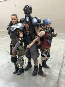 Facebook - Group pose with the three Mad Max raiders