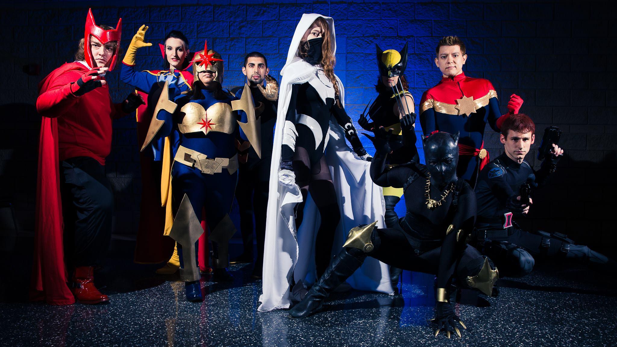 Genderbent Superhero Group