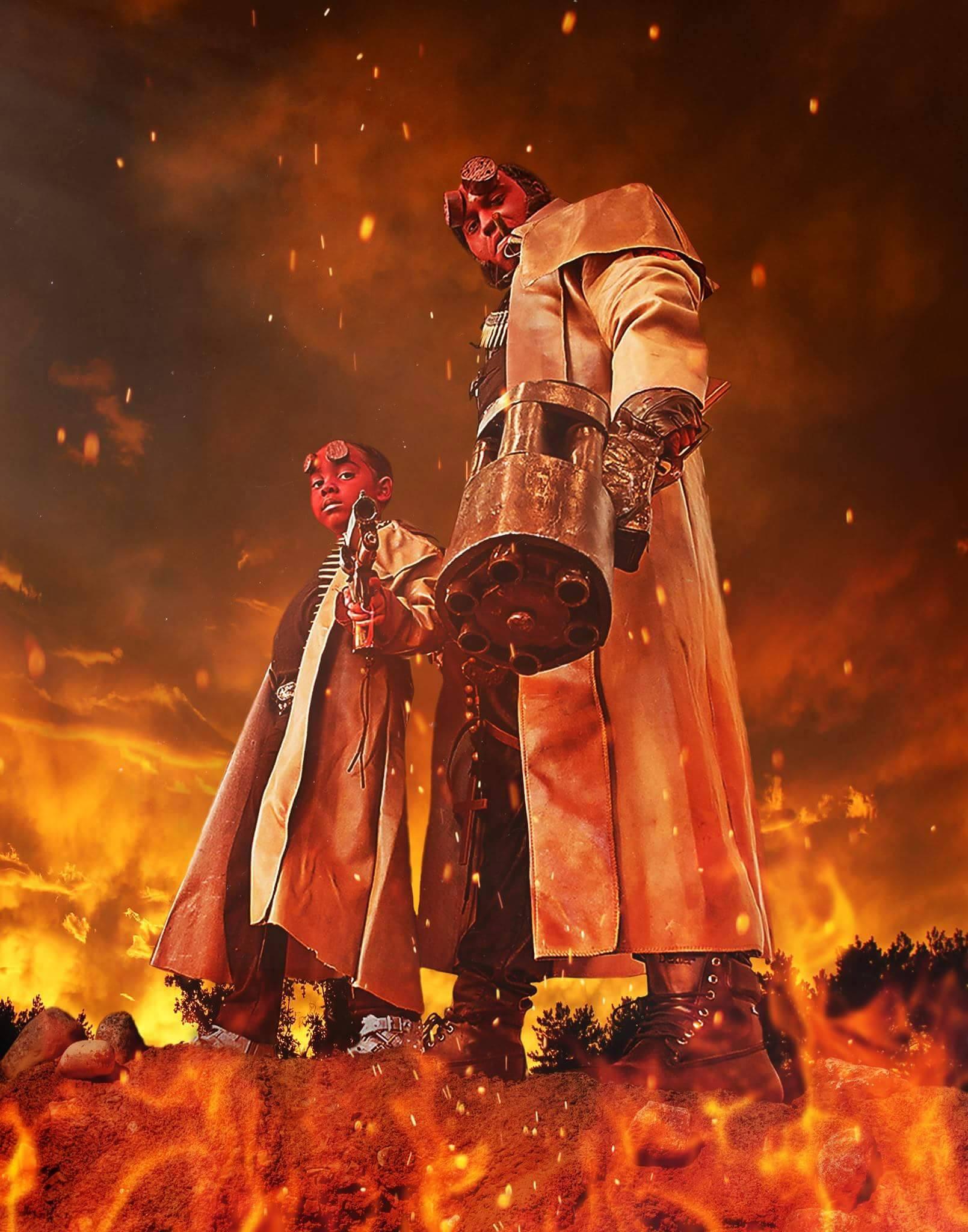 Hellboy and Hellgirl Cosplay