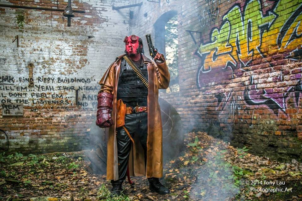 Chris English as Hellboy