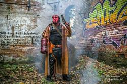 Chris English as Hellboy