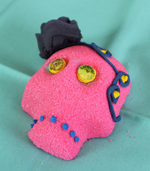Small Pink with Black Rose