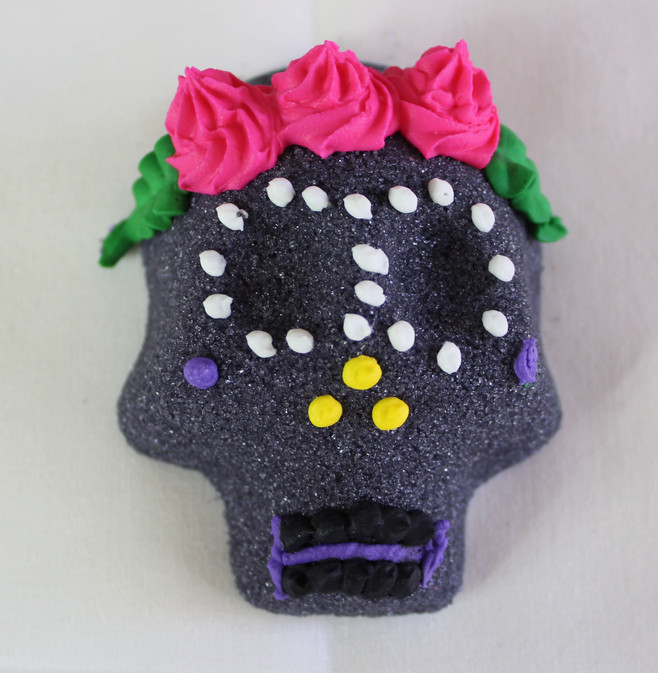 Small Black with Pink Flower Headband
