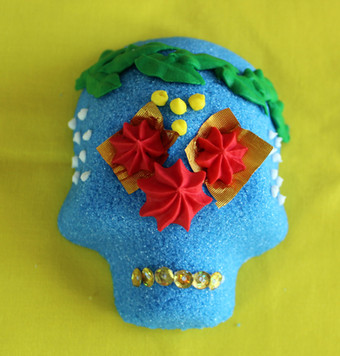 Small Blue with Leaf Headband