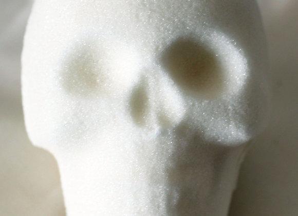 Medium Blank Sugar Skull: White