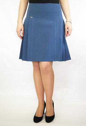 Расклешенная на обтачке юбка №364-опт