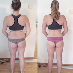Results of my client _stronger_together_liz. With up and downs along her way but consistency does it