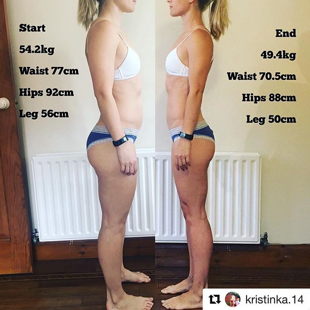 My client Cristina 6 weeks results😍😍😍👏🏻👏🏻👏🏻_#Repost _kristinka.14_・・・_'Look at yourself in