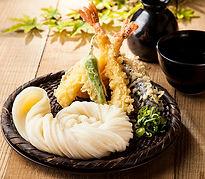 天ざる (南瓜・人参・茄子・ししとう・海老2尾)