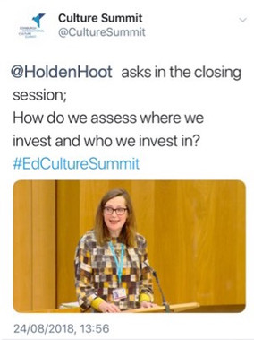Edinburgh International Summit tweet Hol
