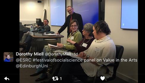 Catherine and ESRC panel Dorothy tweet.j