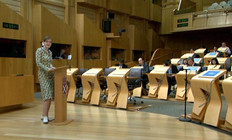 Catherine Holden speaking at Edinburgh I
