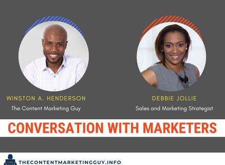 Conversation With Marketers (Debbie Jollie)