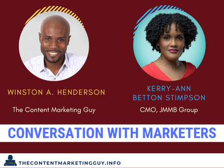 Conversation With Marketers (Kerry-Ann Betton Stimpson)