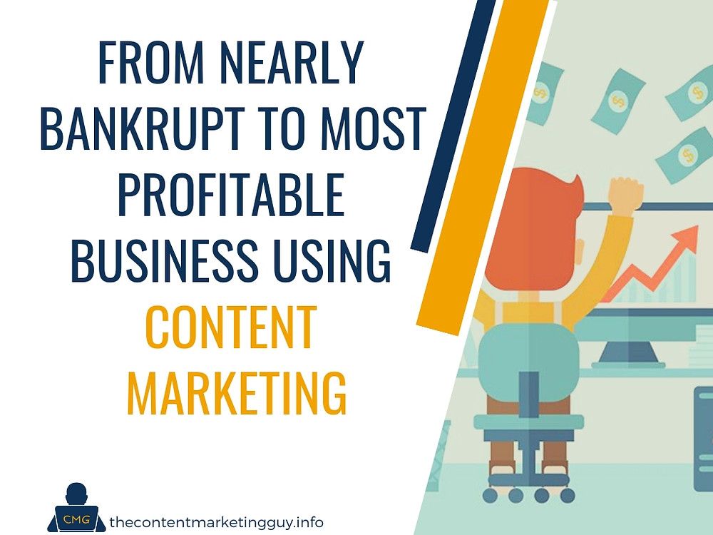 From Nearly Bankrupt to Most Profitable Business Using Content Marketing
