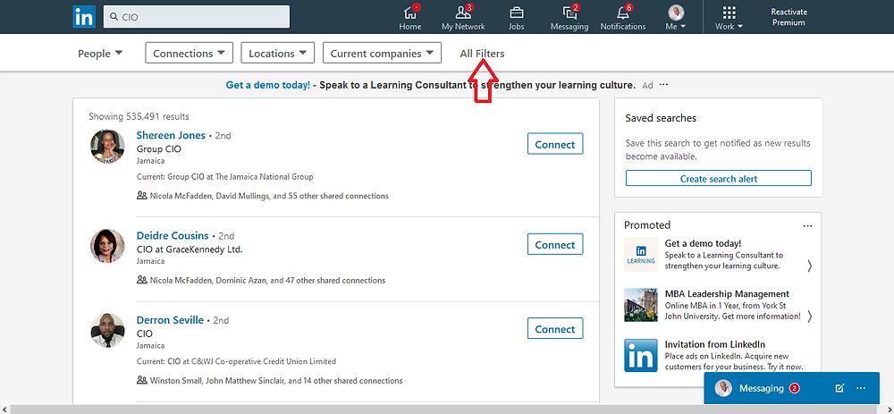 LinkedIn search 3