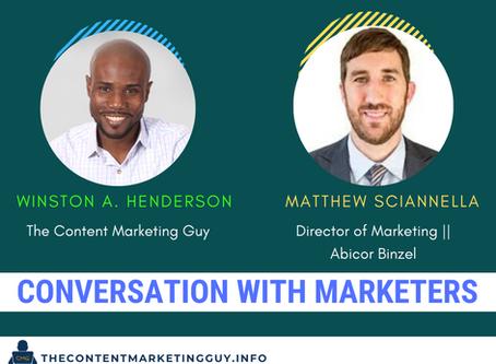Conversation With Marketers (Matthew Sciannella)