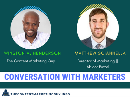 Conversation With Marketers (Matthew Sciannella)