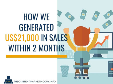 How We Generated US$21,000 in Sales Within 2 Months