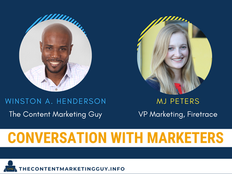 Conversation With Marketers (MJ Peters)