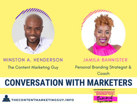 Conversation With Marketers (Jamila Bannister)
