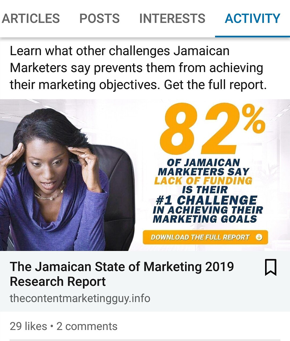 LinkedIn ad for research report