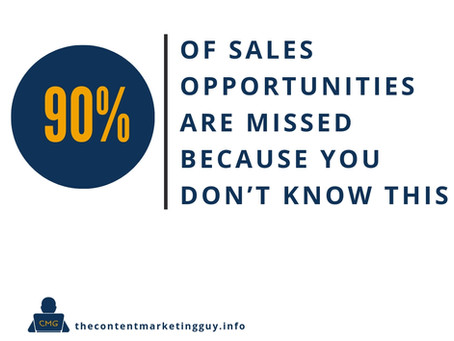 90% of Sales Opportunities Are Missed Because You Don't Know This