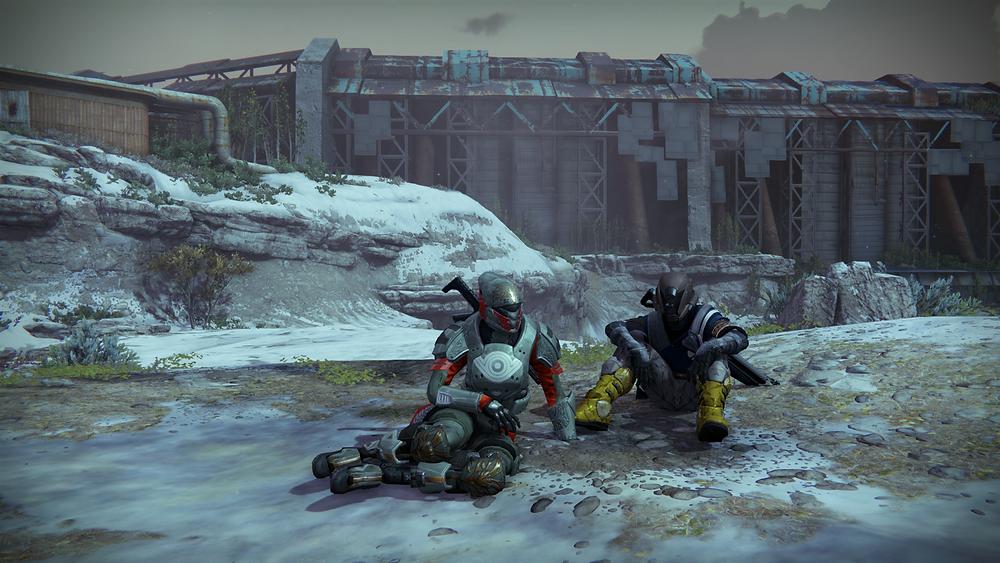 My Titan and her Warlock padawan, just before murdering everything in the Cosmodrome.